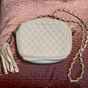 Forever21 White Quilted Crossbody Purse